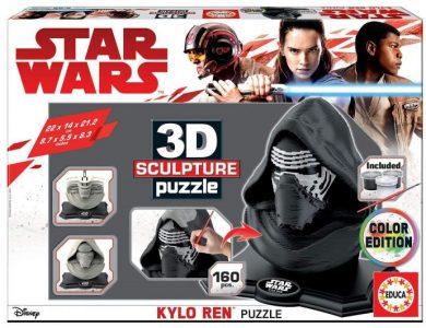 Caja del puzzle 3D Color Edition Kylo Ren de StarWars de 160 piezas de los fabricantes Educa
