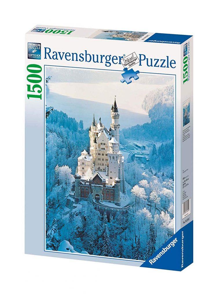 Puzzle castillo Neuschwanstein nevado - Ravensburger (1.500 piezas)