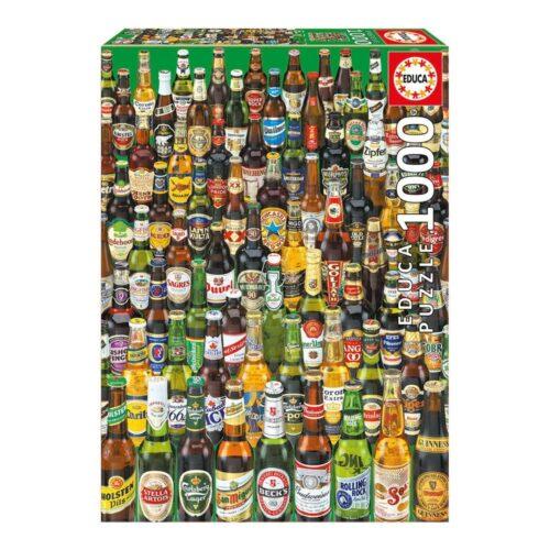 Puzzle cervezas del mundo - Educa (1.000 piezas)