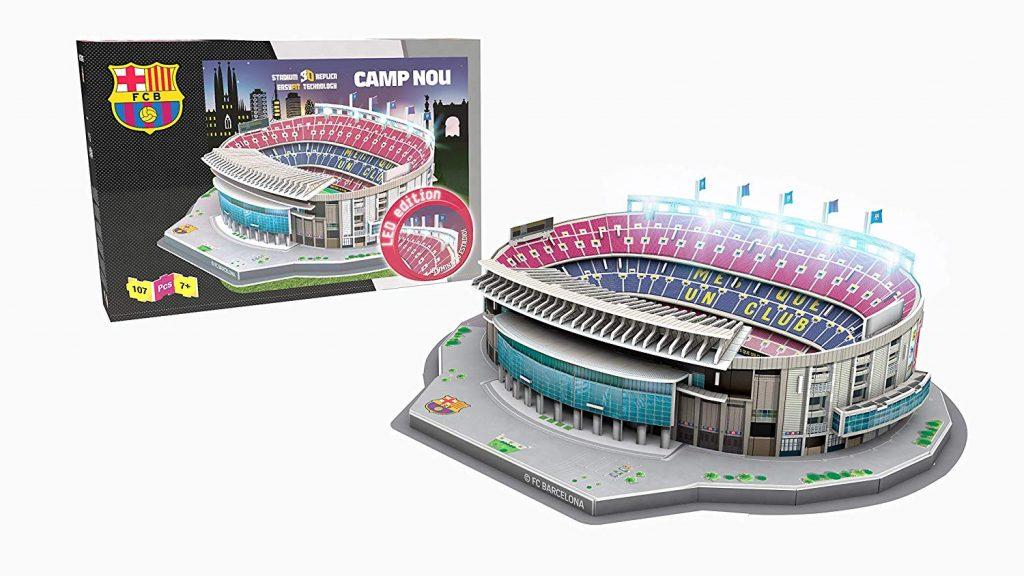 Resultado del puzzle 3D edición Led Camp Nou de 107 piezas de los fabricantes NANOSTAD