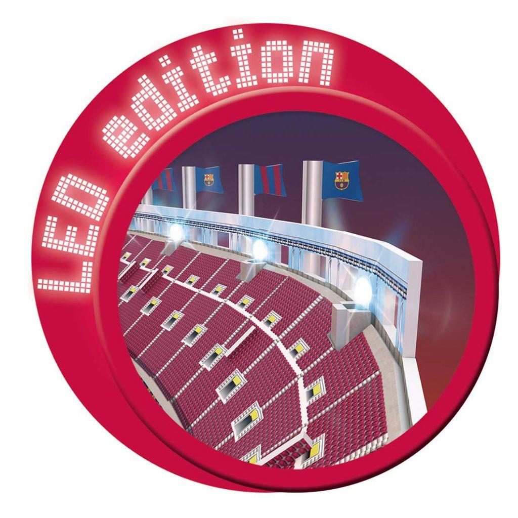 Logo de la Led Edition del puzzle 3D Camp Nou - NANOSTAD