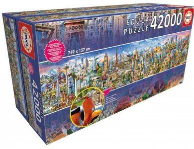 Caja del puzzle Vuelta al mundo de 42.000 piezas de los fabricantes Educa