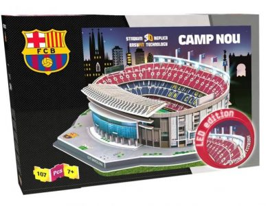 Caja del puzzle 3D edición Led Camp Nou de 107 piezas de los fabricantes NANOSTAD