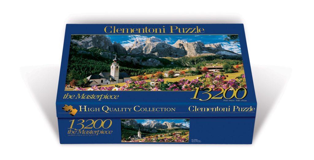 Caja del puzzle Sellagruppe - Dolomiten de 13.200 piezas de los fabricantes Clementoni