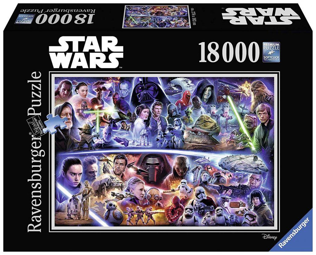 Caja del puzzle Star Wars de 18.000 piezas de los fabricantes Ravensburger