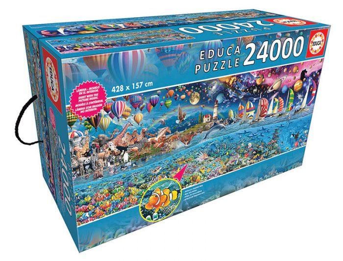 Caja del puzzle Vida, el Gran Reto de 24.000 piezas de los fabricantes Educa
