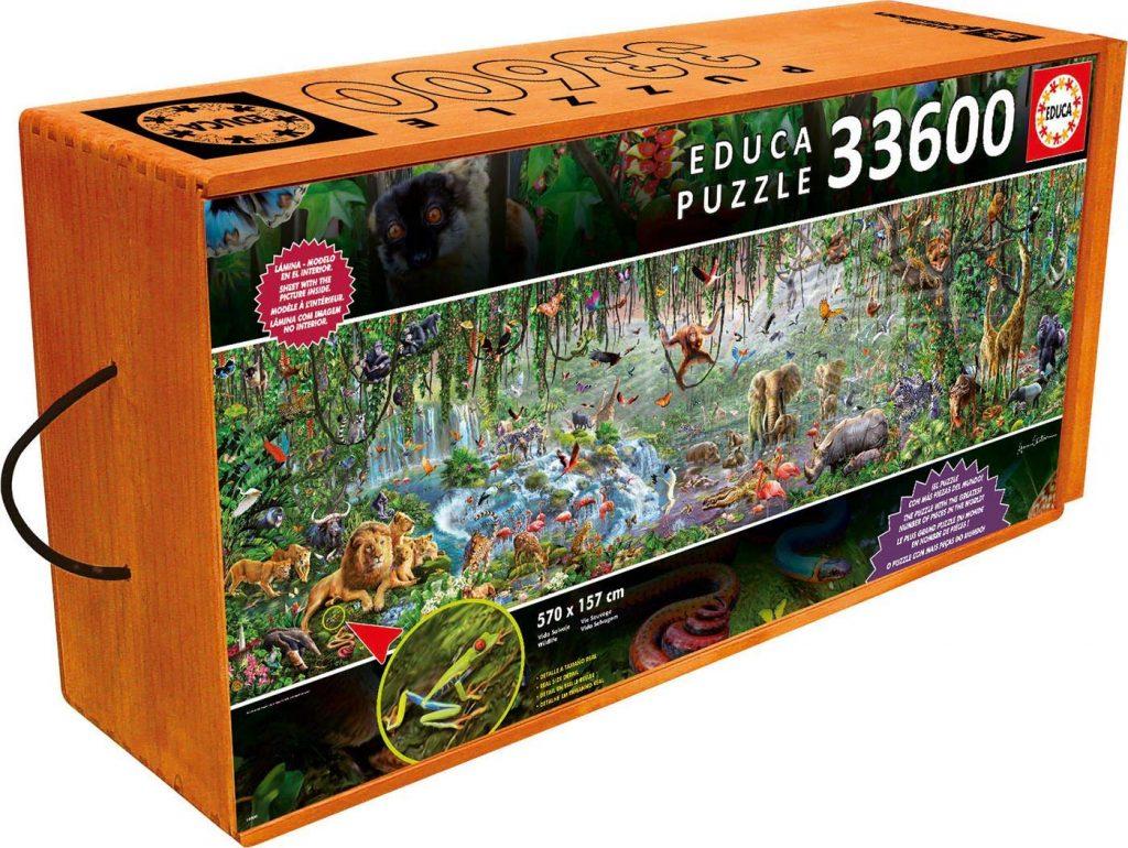 Caja del puzzle Vida Salvaje de 33.600 piezas de los fabricantes Educa