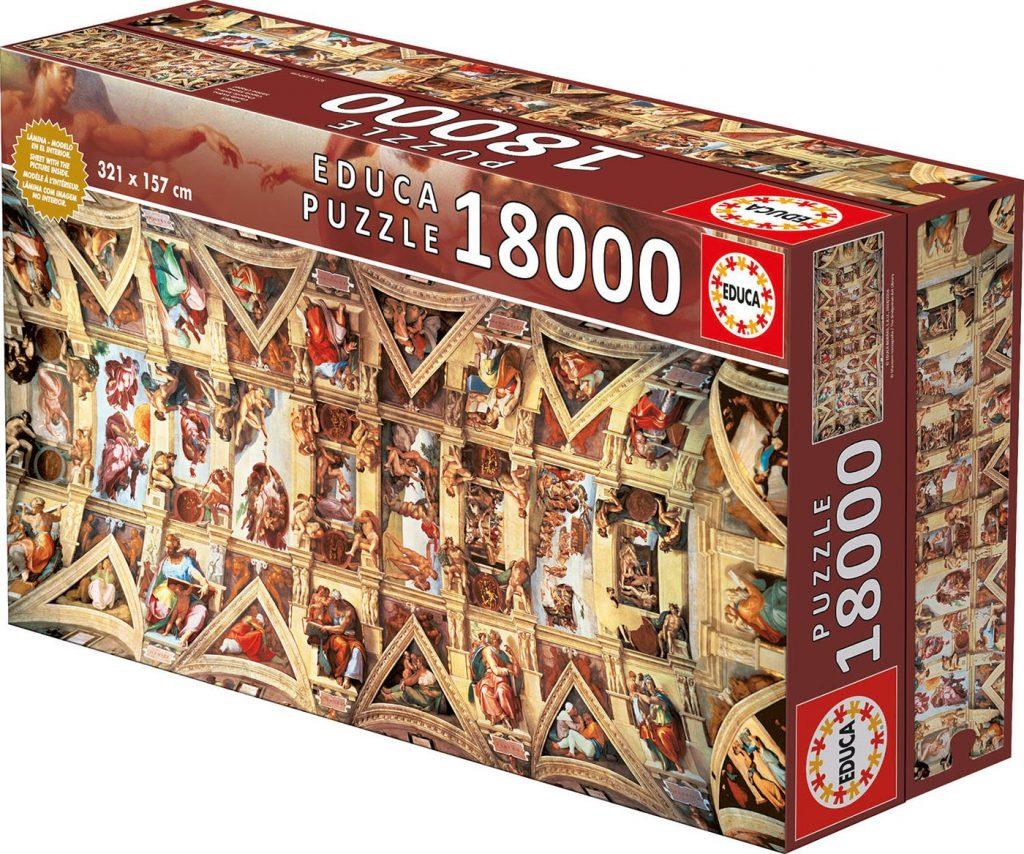 Caja del puzzle Capilla Sixtina de 18.000 piezas de los fabricantes Educa