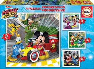 Caja de 4 puzzles de 12 a 25 piezas de Mickey Mouse