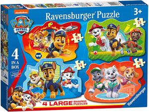 Caja de 4 puzzles de 10 a 16 piezas de la Patrulla Canina