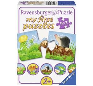 Caja Puzzles Educativos de 2 piezas de Animales