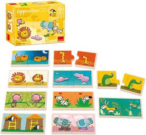 Puzzles Educativos de 2 piezas de Madera