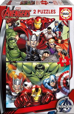 Caja dos Puzzles de 48 piezas de Avengers