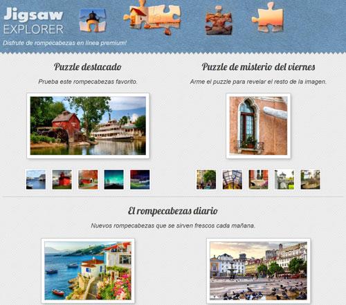 Detalles web de puzzles online gratis jigsawexplorer