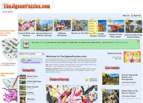 Detalles web de puzzles online gratis jigsawpuzzles