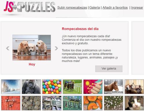 Detalles web de puzzles online gratis jspuzzles