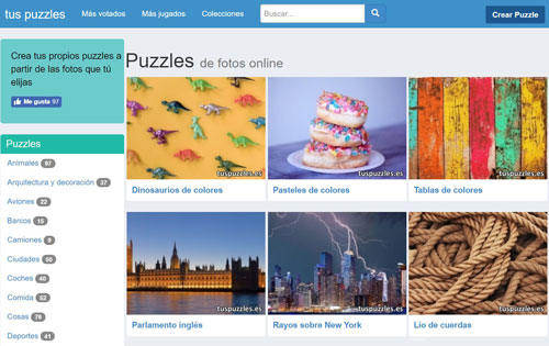 Detalles web de puzzles online gratis tuspuzzles_tapete