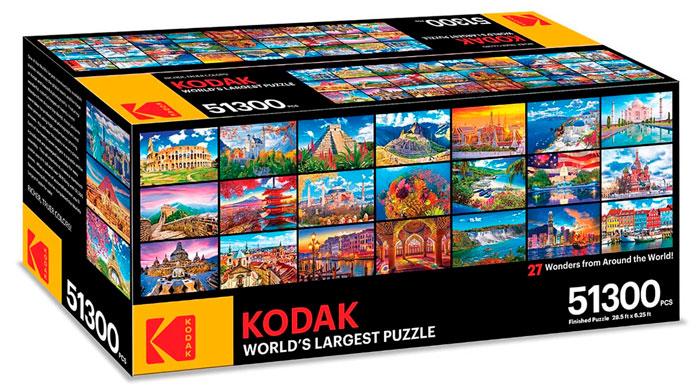 Caja del puzzle KODAK World's Largest Puzzle de 51.300 piezas de los fabricantes Kodak